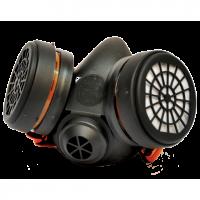 Climax 755 μασκα ενεργου ανθρακα με 2 φιλτρα Α1 .Η μάσκα, που αποτελείται από την μάσκα προσώπου και δυο φίλτρα, καλύπτει την μύτη και το στόμα και είναι κατασκευασμένη από ανθεκτικά και ελαφριά υλικά που δεν είναι επικίνδυνα για την υγεία. Το σώμα της μά